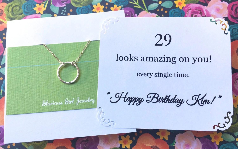 BIRTHDAY Gift For Women 30th Birthday Necklace 40th Birthday