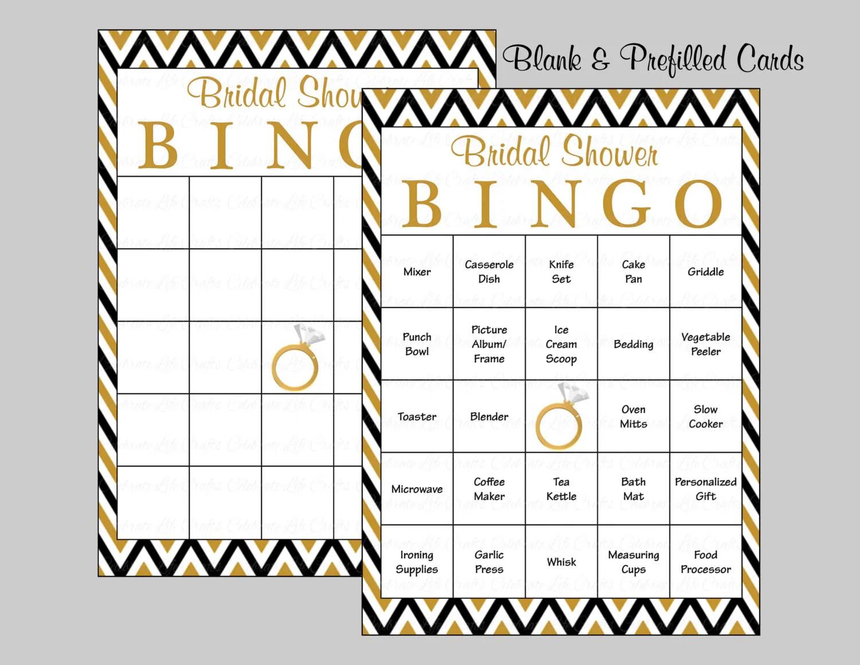 100 Bridal Bingo Cards Blank Amp 100 By Celebratelifecrafts
