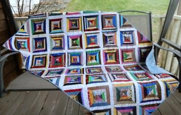 Multi-colored Scrappy Quilt