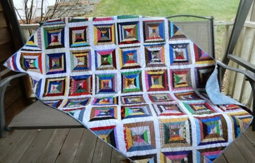 Multi-colored Scrappy Quilt