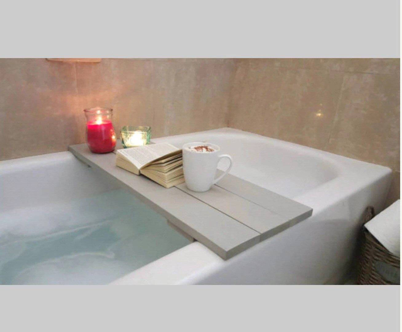 Bath Caddy Bathtub Tray Bath Tray Bath Shelf Bathroom Decor