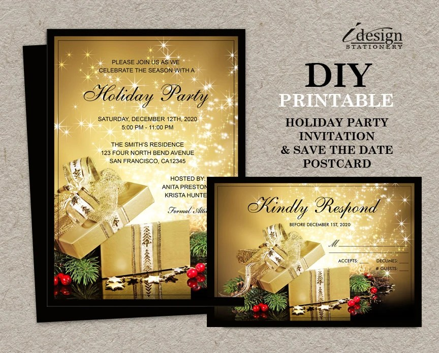 Save Date Cards Holiday Party