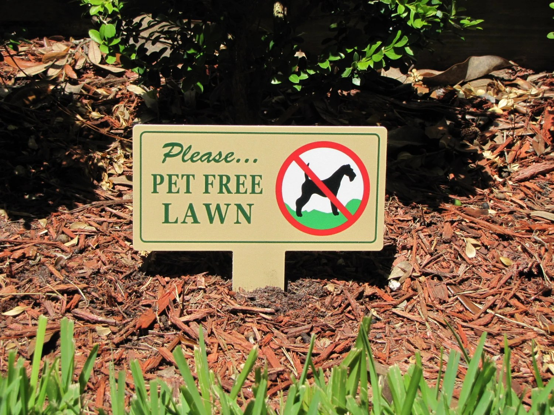 Pet Free Lawn Signs No Dog Poop Stake No Poop No Pee