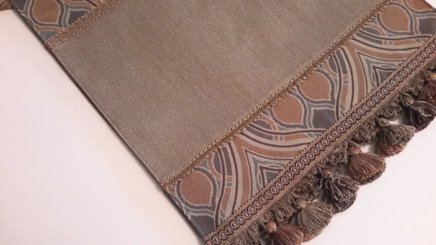 Elegant Rust And Gold Plaid Table Topper Size 40 In Square