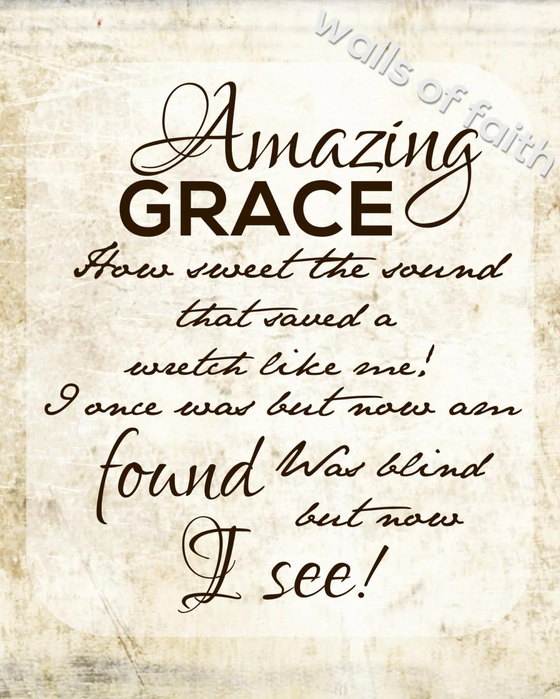 Amazing Grace Printable By Mjswallsoffaith On Etsy