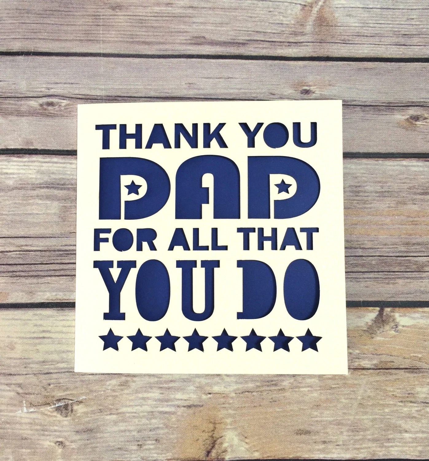 Father S Day Card Thank You Dad Dad Card Fathers Day