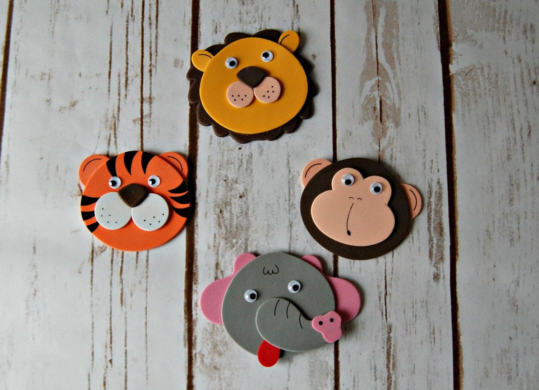 Foam Zoo Safari Animal Craft Kit Magnet Craft Party