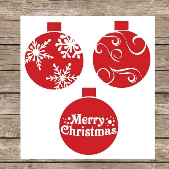Download Christmas SVG Cut file Christmas Ornaments SVG Winter SVG ...