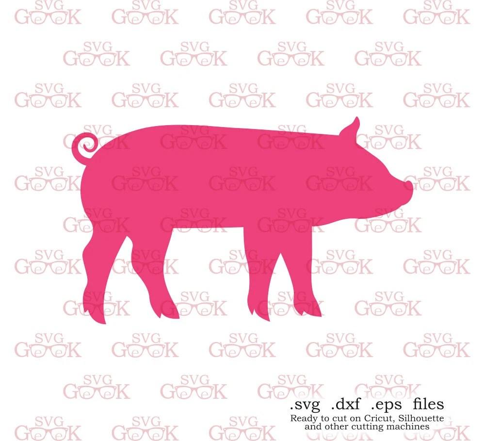Pig Silhouette Monogram