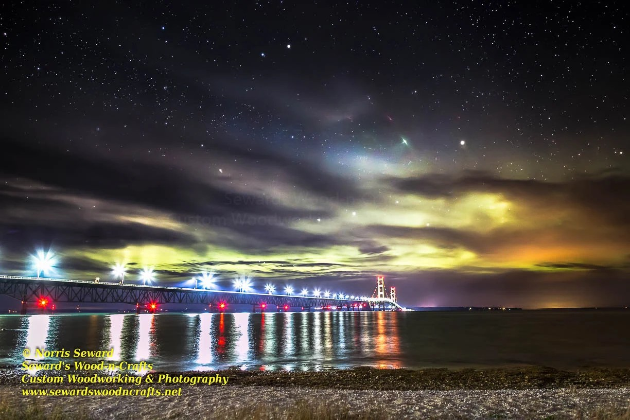 Northern Lights Mackinac Bridge