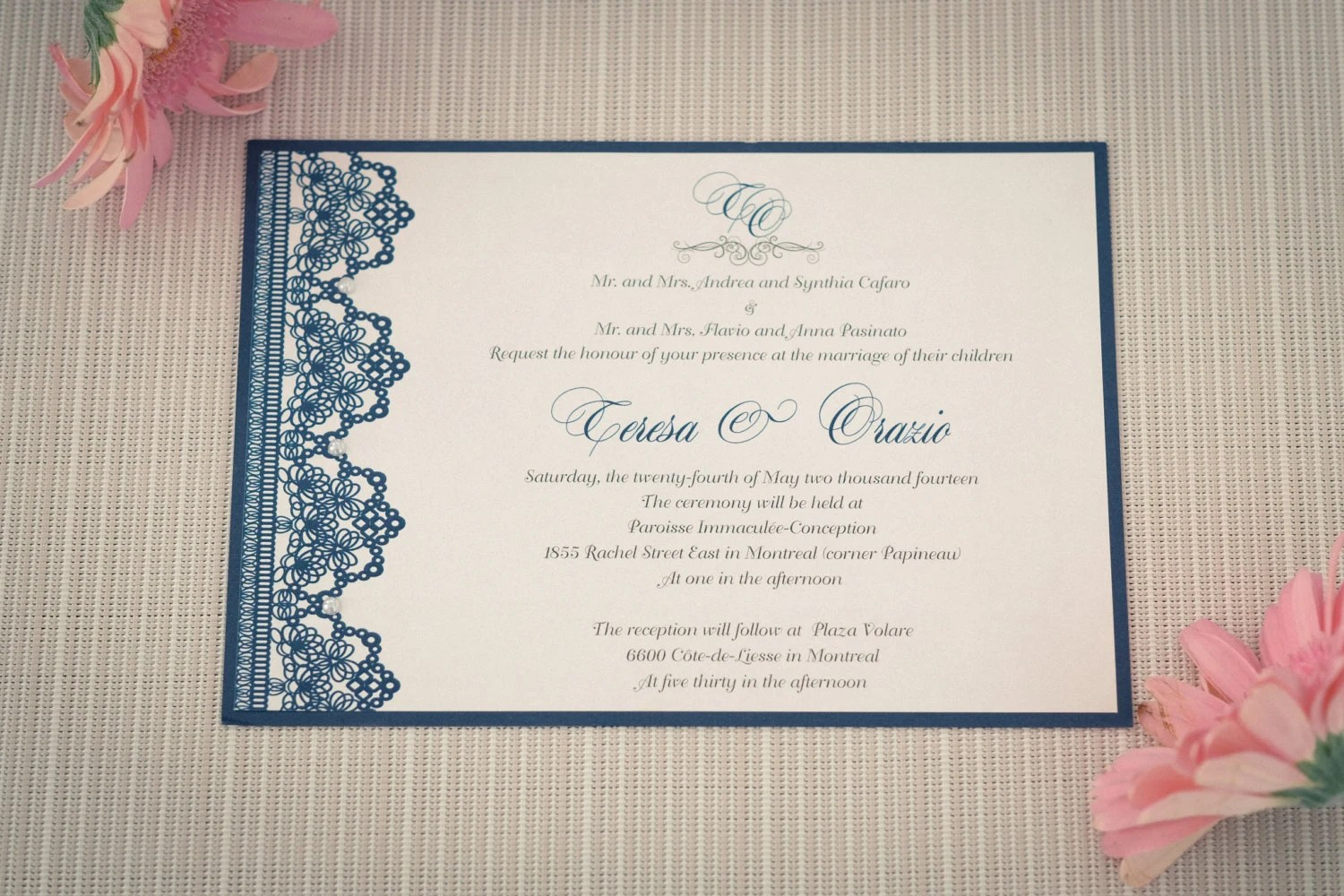 Wedding Invitations With Lace Well I M Sure You Ll Fall In Love Too