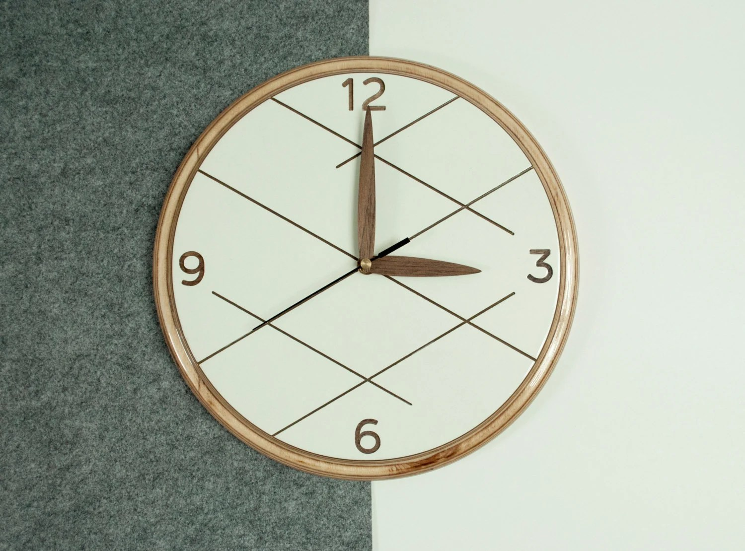 Modern Wooden Wall Clock Unique Wall Clock White By