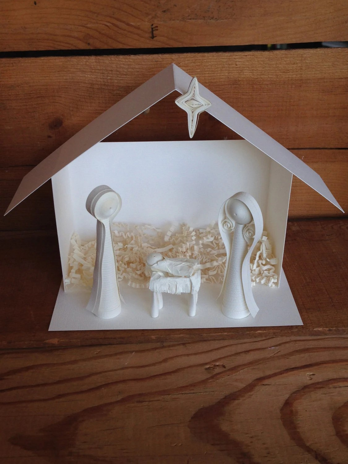 Paper Quilled Nativity Creche