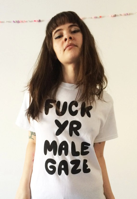 Fuck yr male gaze white t-shirt