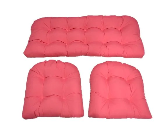 Indoor / Outdoor Wicker Cushion 3 Pc. Set By