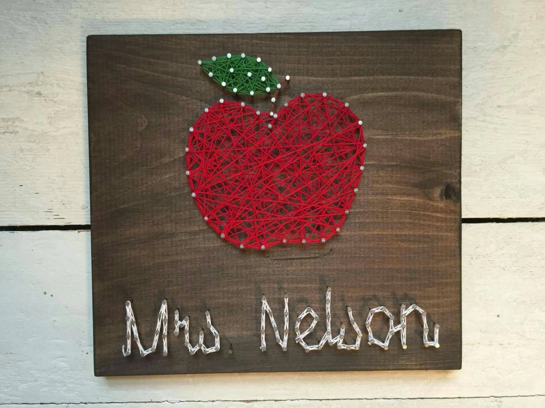 Teachers Gift Custom Teacher String Art Apple String