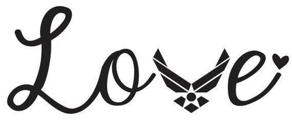 Download Downloadable Air Force Love SVG