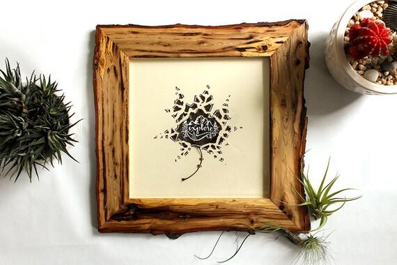 Pressed Leaf Art With Natural Wood Frame Explore