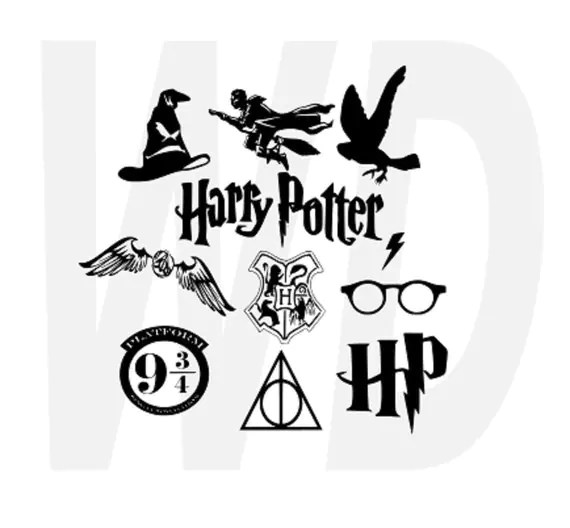Download Harry Potter svg dxf eps cutting files for by Walkerdesigns6