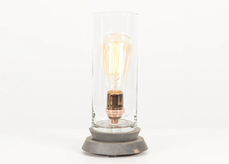 Lantern Pedestal Lamp Lighting Edison Bulb Table Lamp
