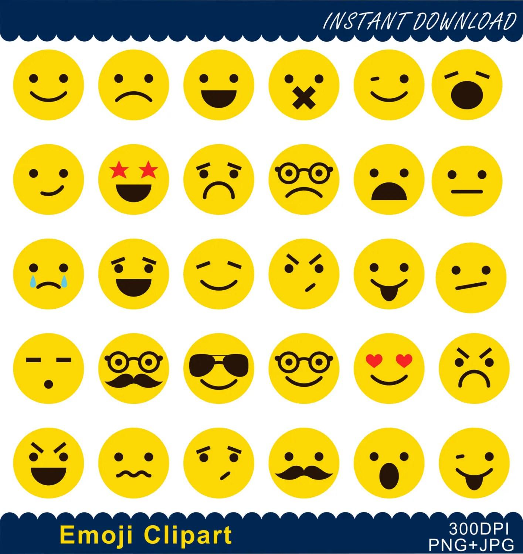 Emoji Clipart Emoticons Collage Clip Art Smiley Face Feelings Clipart Feelings Clipart