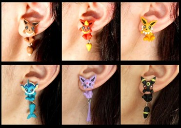 "Eeveelutions earrings - With the popularity of Pokémon not only reaching kids and teens but also spanning to adults, I'm sure there is a Pokémon lover in your life that ""needs"" one of these gifts. thekeeledeal.com"