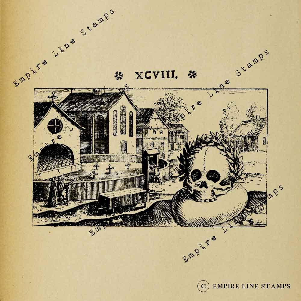 Gothic Graveyard Skull Me...