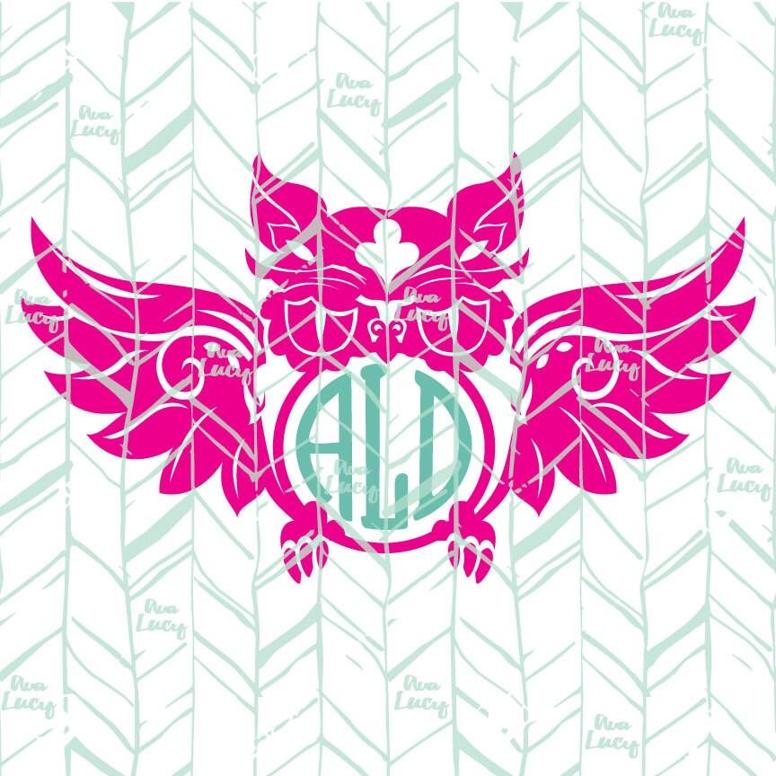Download Owl Monogram SVG Owl SVG Digital Download Cricut File