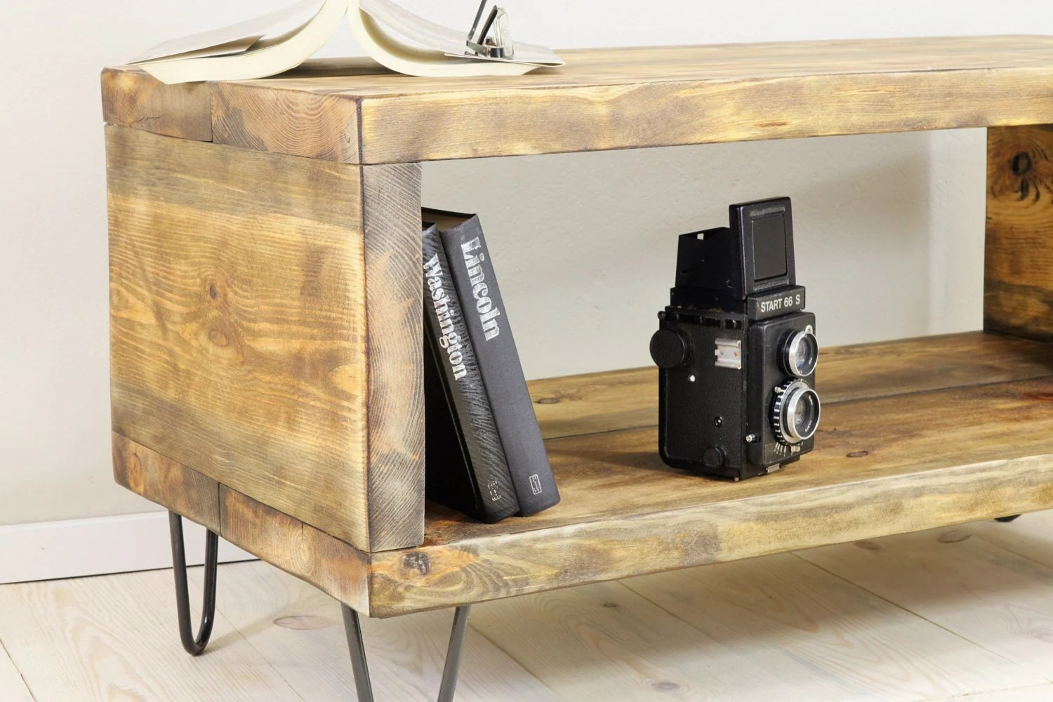 Reclaimed Sideboard On Hairpin Legs, Small Wood Bookshelf