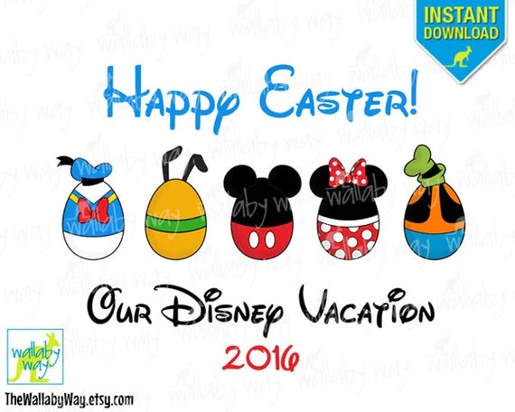 Disney Easter Eggs Fab 5 Printable Iron On By TheWallabyWay