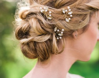 wedding hair pins etsy uk