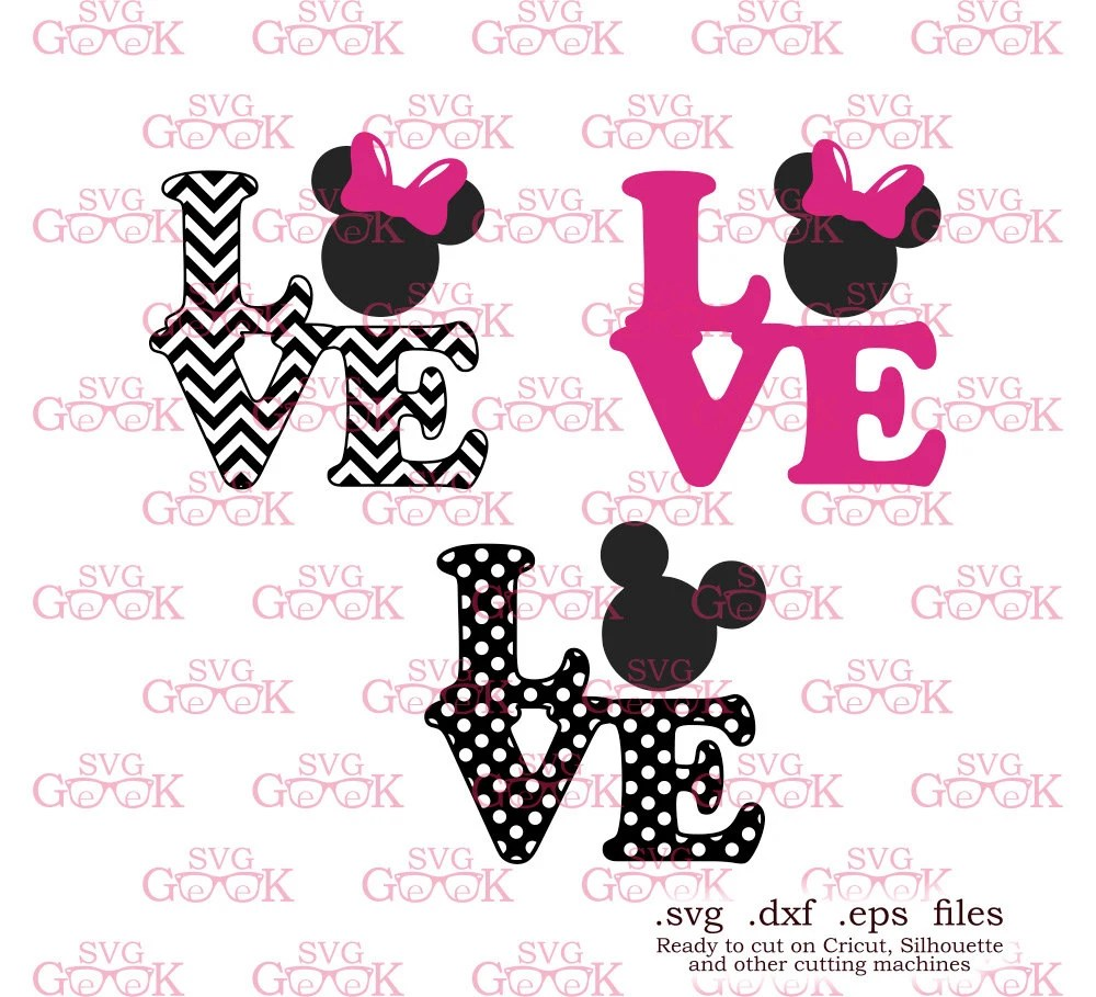 Download Love Mickey Mouse Minnie Mouse SVG cut files Minnie Ears svg