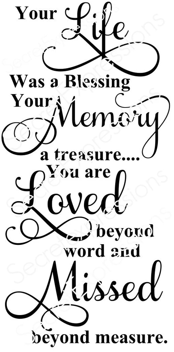 Download Your Life Was Blessing Memory Treasure by SecretGardenDecatur