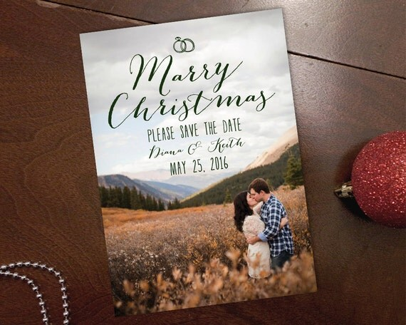 Christmas Card And Save Date