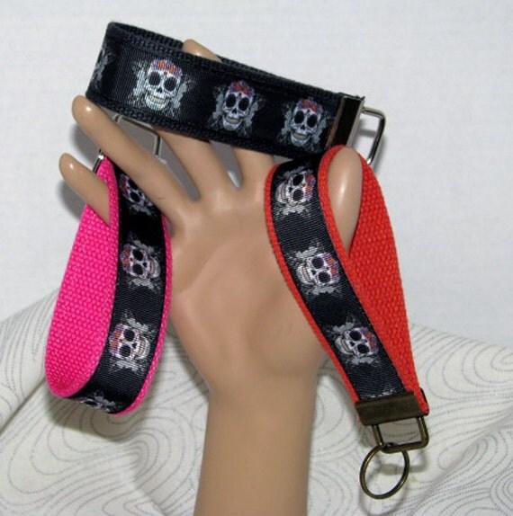Key fob, key wristlet,key holder, keys, skull key chain, key holder, keys, house keys, house key holder, day of the dead key fob