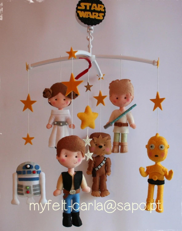 Baby Felt Mobile Star Wars Mobile Nursery Decor By