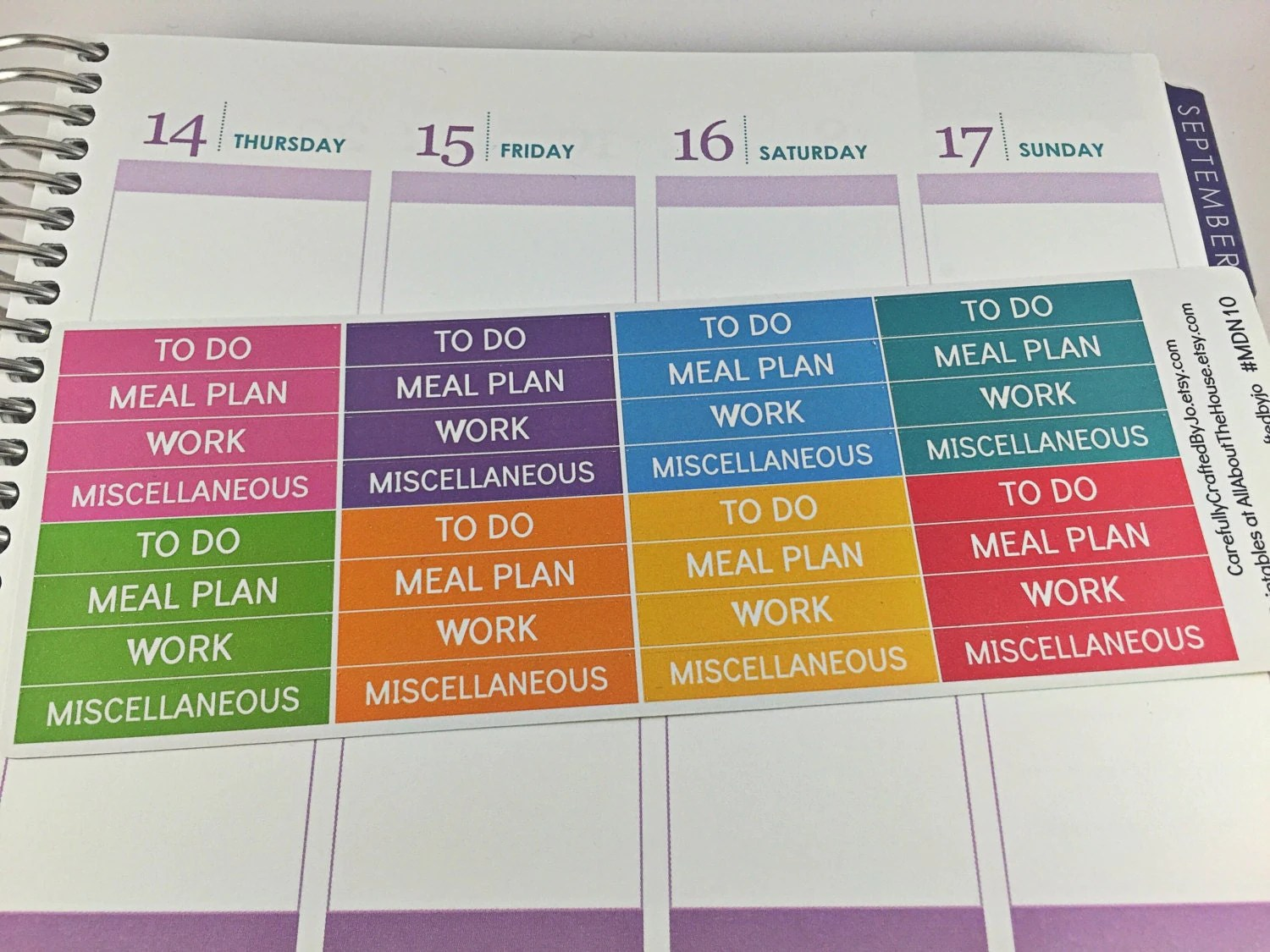 morning, day, night, header stickers, rainbow, erin condren, plum paper, happy planner, mambi, to do, meal plan, work, miscellaneous, list
