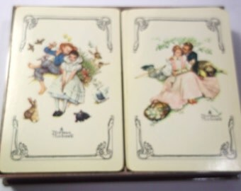 Norman Rockwell Playing Cards Etsy UK