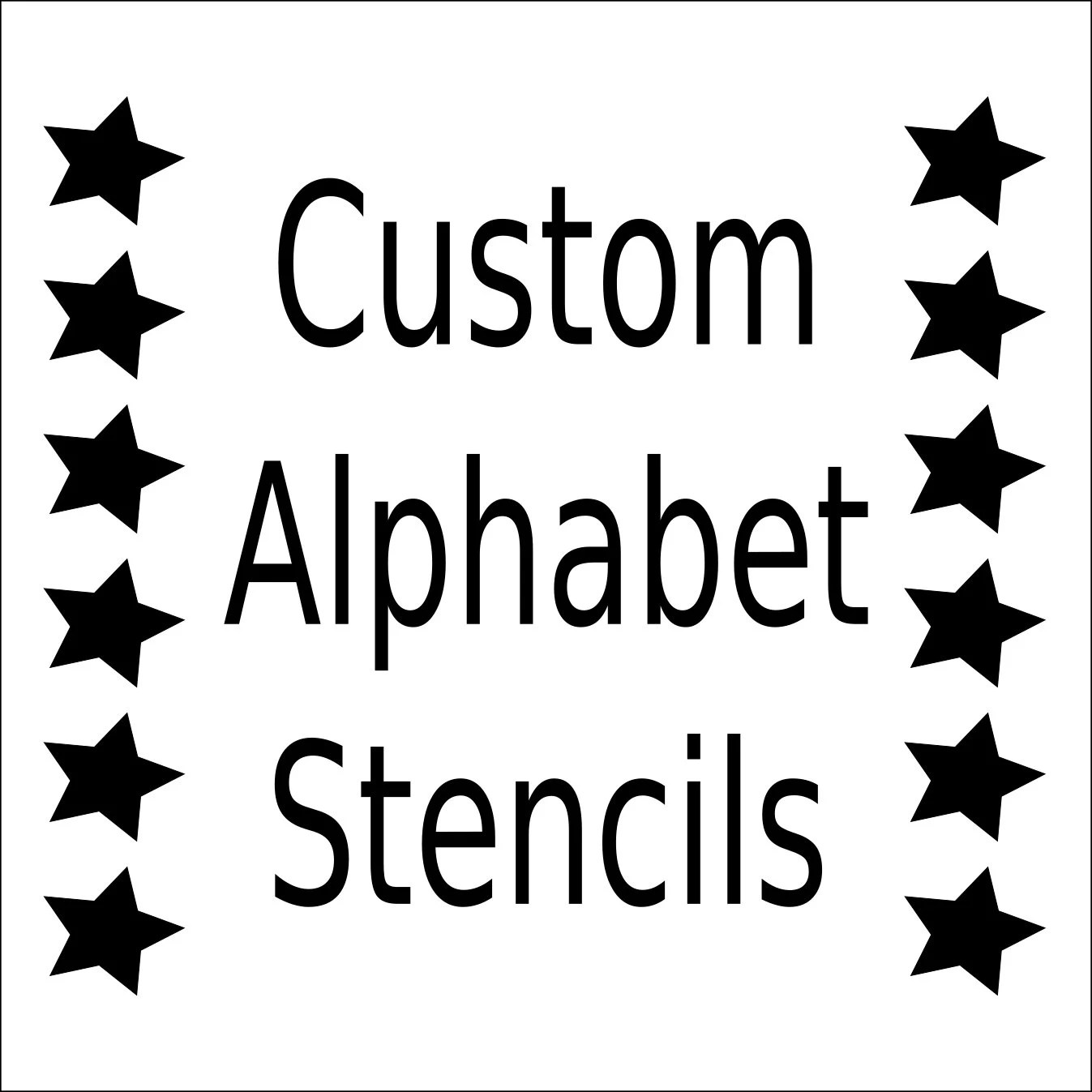 Alphabet Stencil Letter Stencil Any Font Small To Large