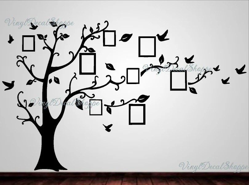 Large Family Tree Wall Decal Family Tree Wall Decor Family