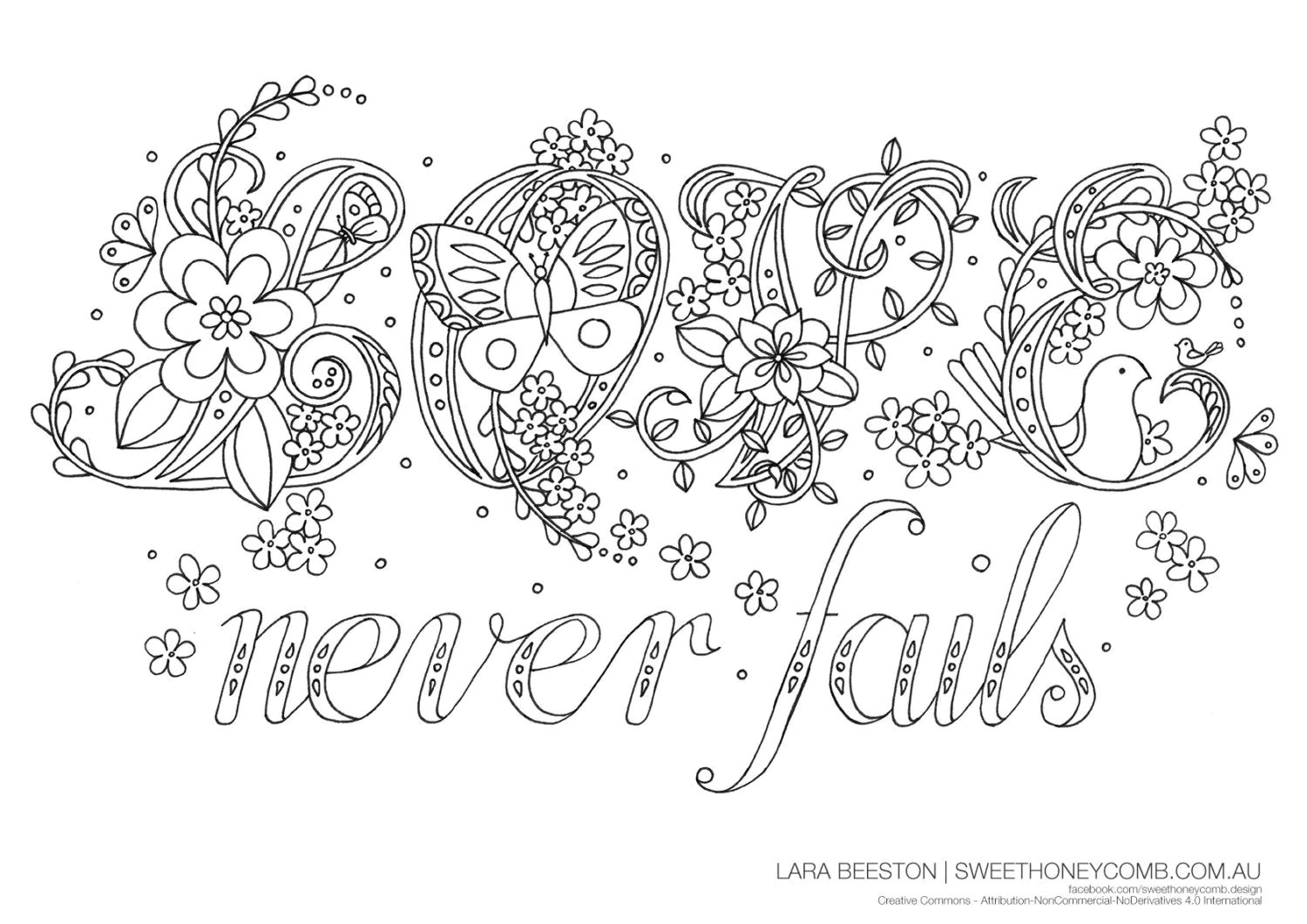 Adult Colouring Page Bible Verse 1 By Sweethoneycombbylara
