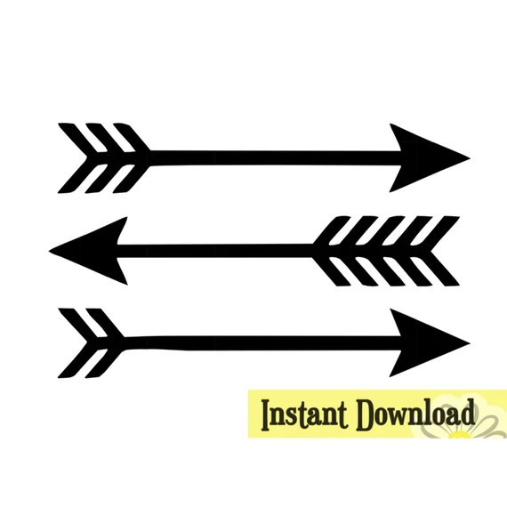 Download 3 Arrows .SVG & .studio3 cut file Instant Download