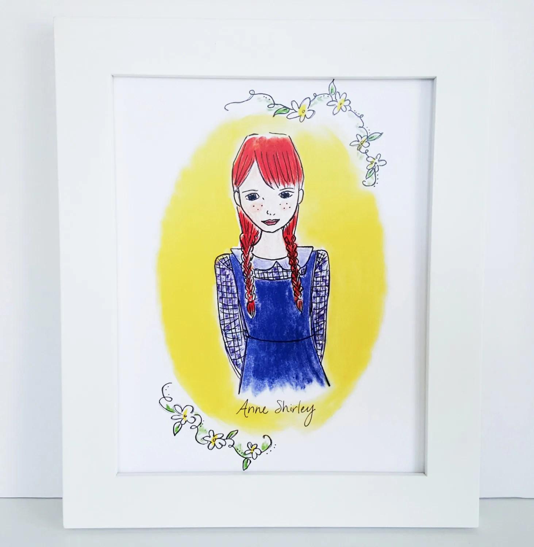 Anne Of Green Gables Print Illustrated Girls Room Decor