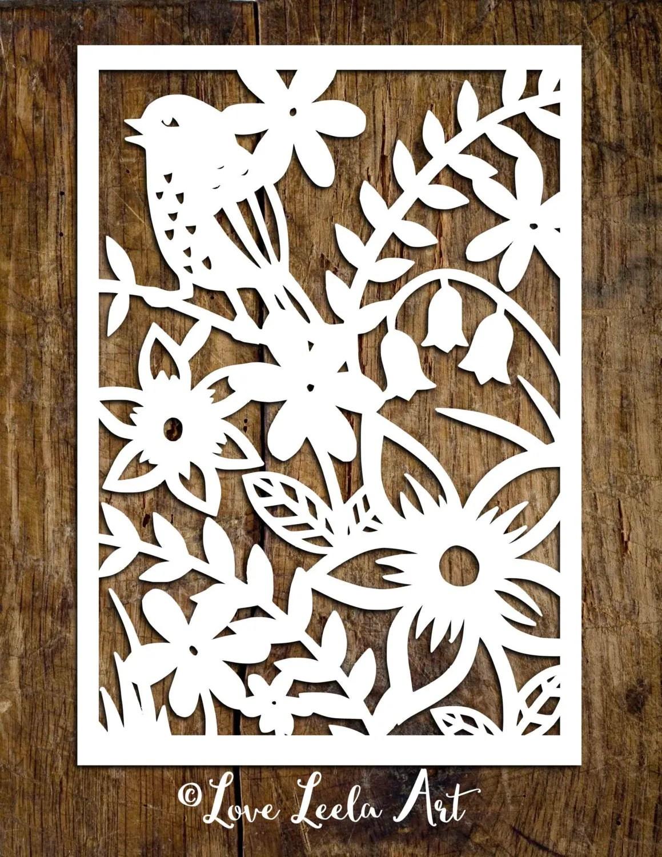 Personal Use Papercutting Template Flower Garden Paper Cut