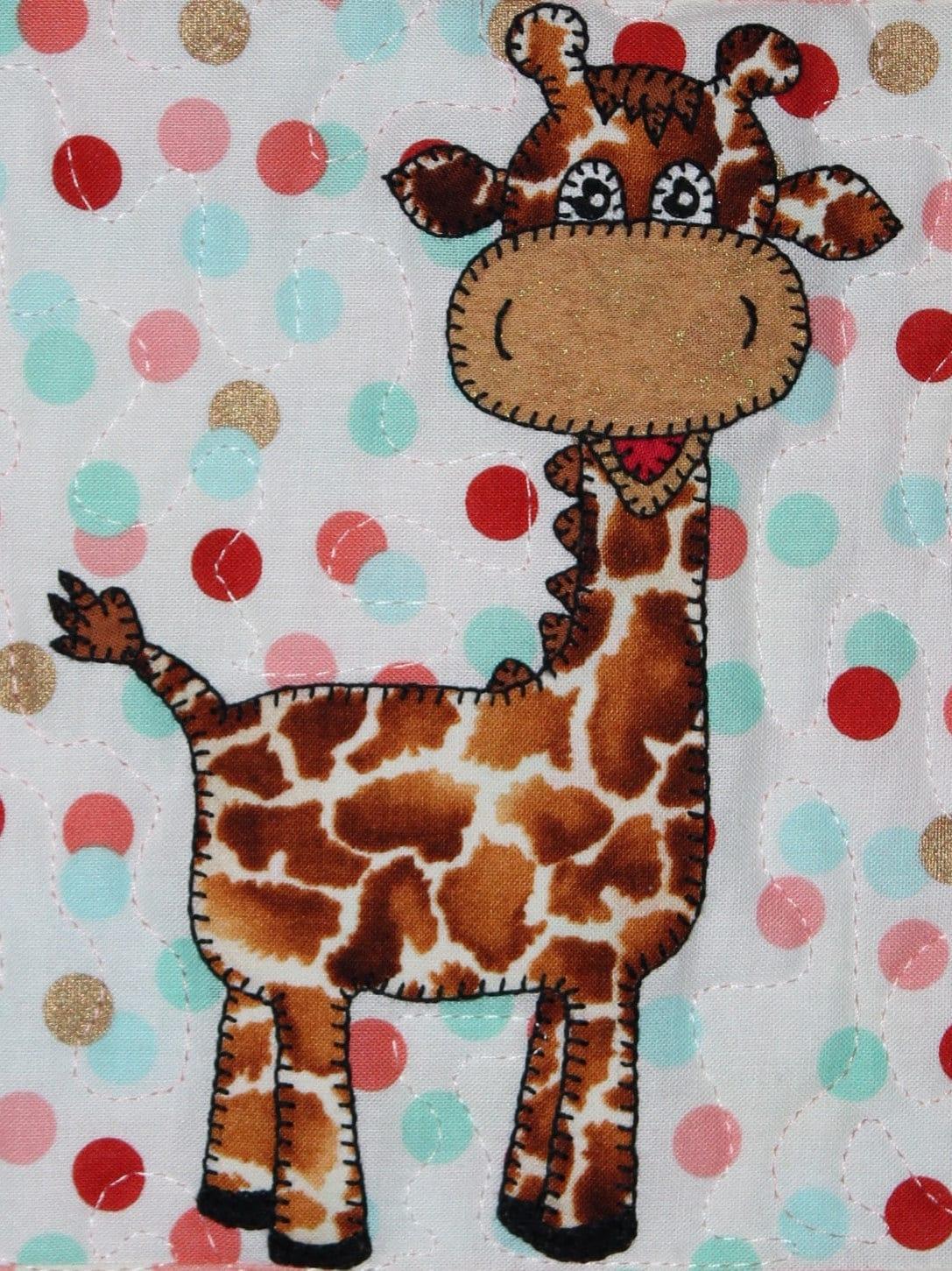 Giraffe Applique Pattern Baby Quilt Pattern Kid S Quilt African Animal Quilt Block
