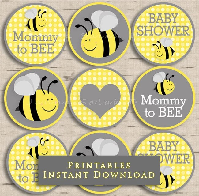 Yellow And Grey Baby Shower Theme