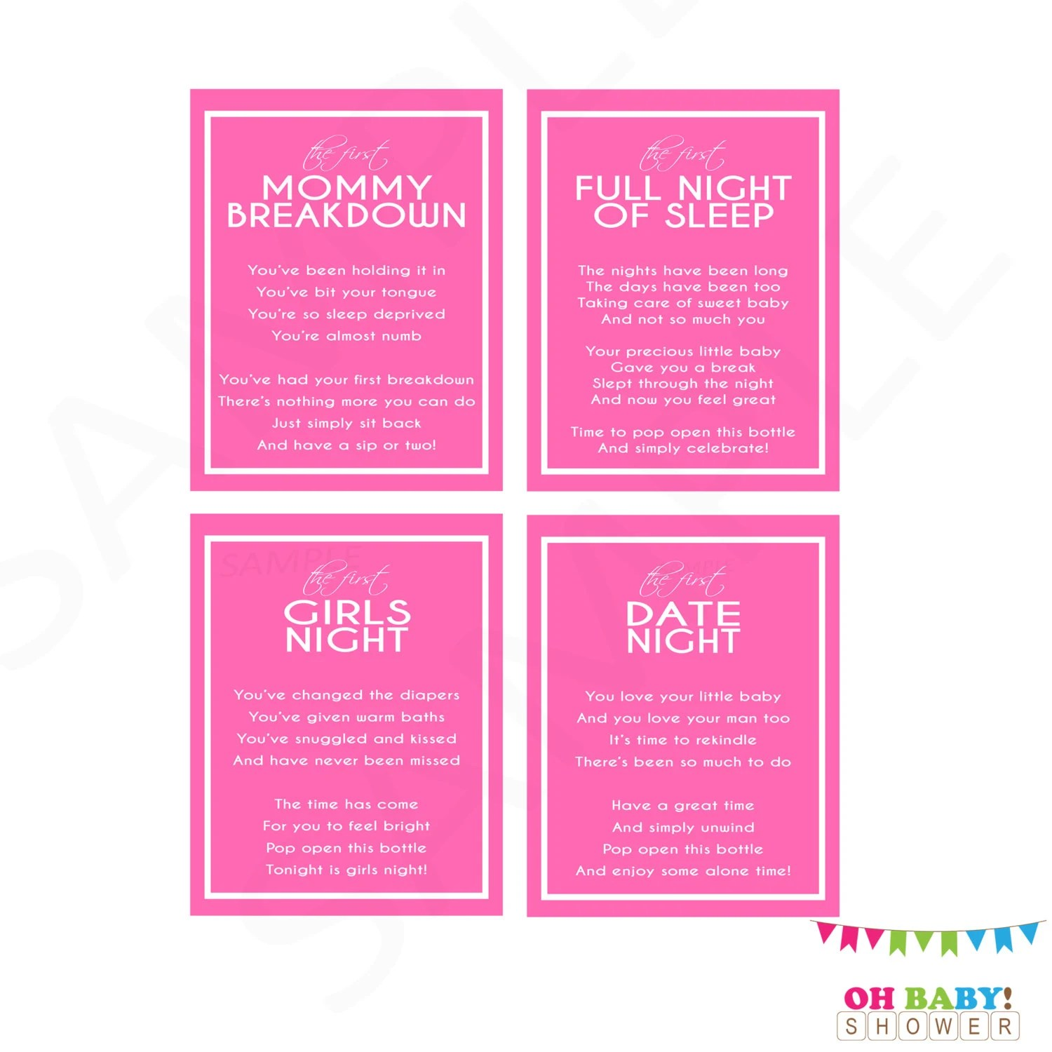 Printable Wine Labels New Mom T Baby Shower Wine T