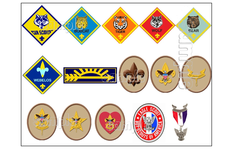 Scout Rank Advancement Eagle Emblem Edible Cake Decoration