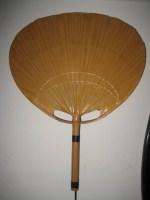 Design Ingo Maurer Uchiwa II Wandlampe Lampe ca. 1970 Fächer