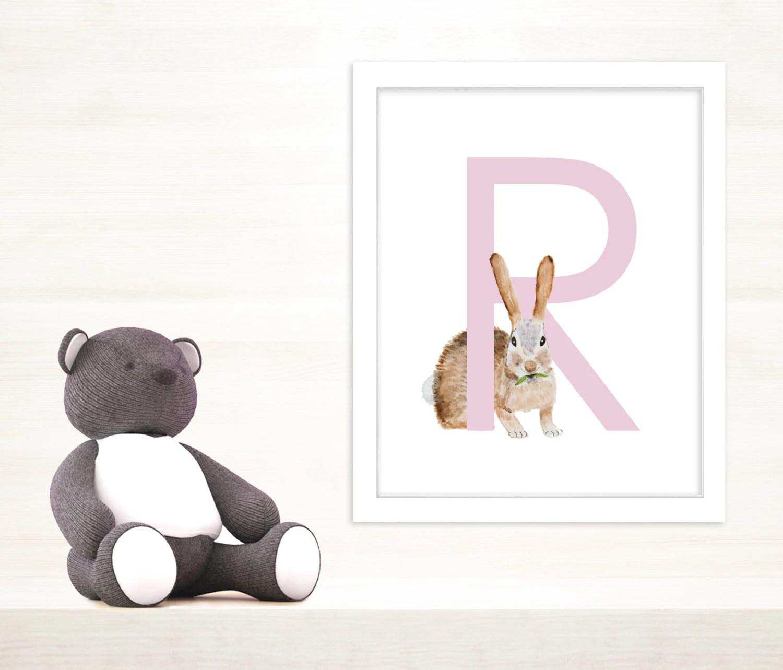 R Is For Rabbit Letter Art Rabbit Art The Letter R Rabbit